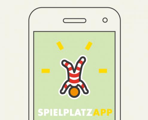 Spielplatz App - Gestaltung Logo Layout Schaltflächen