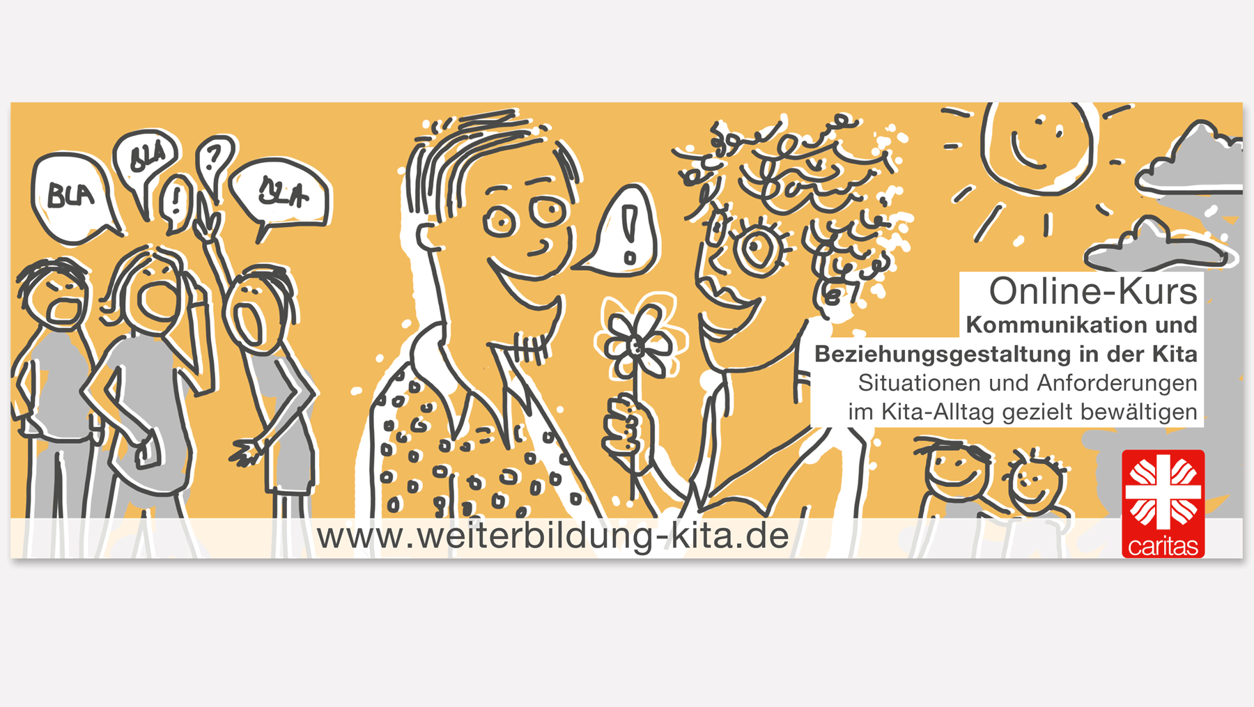 Caritas - Titelbild für Facebook Marketing Online Kurse Kommunikation