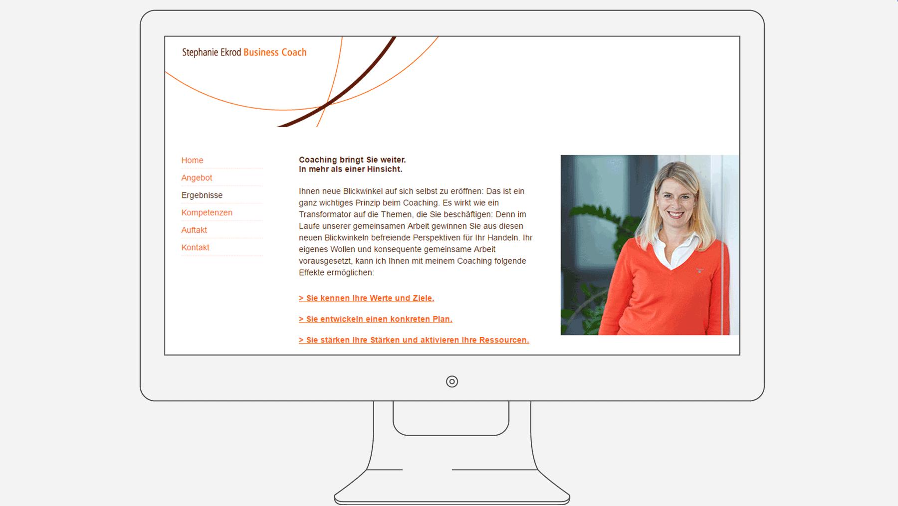 Ekrod Businesscoach - Internetseite Ergebnisse