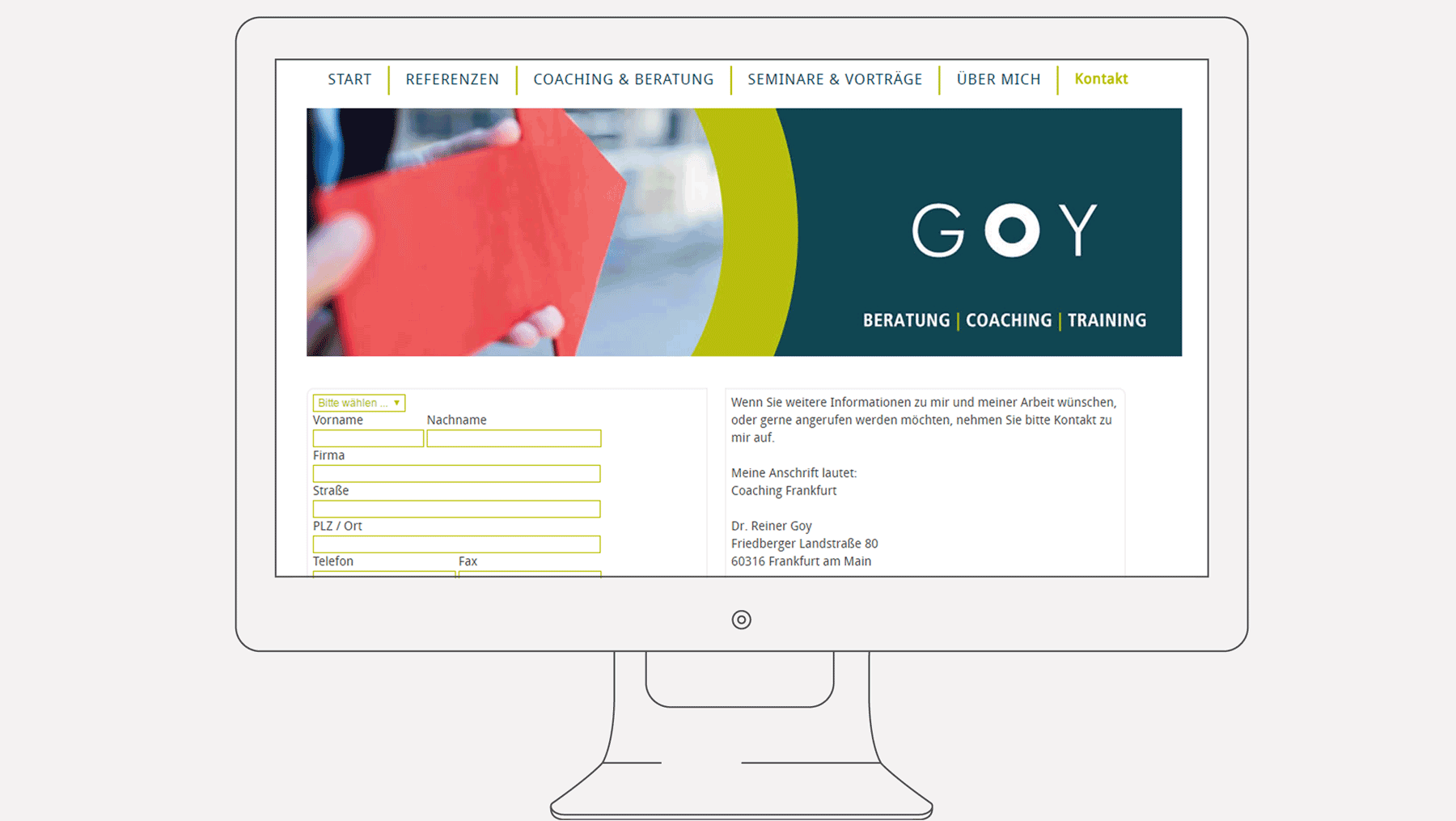 Goy Coaching - Internet Kontakt