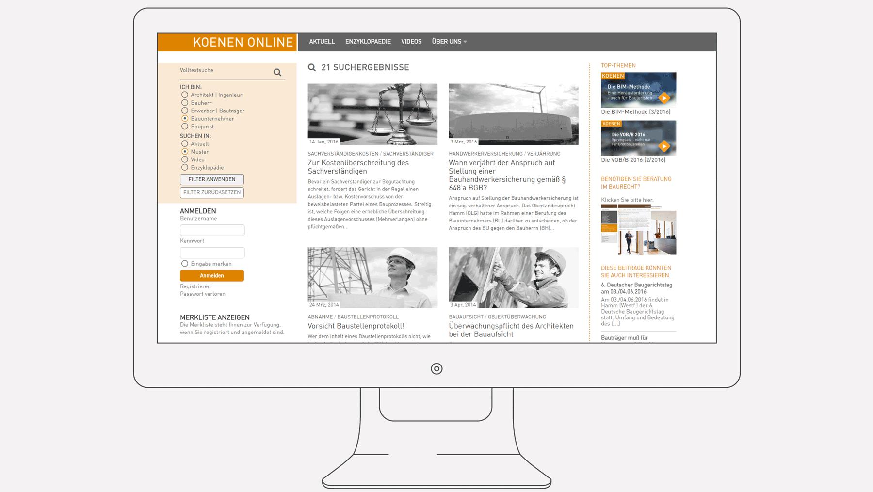 Koenen Online, Juristischer Blog zum Thema Baurecht - Grafikdesign ...