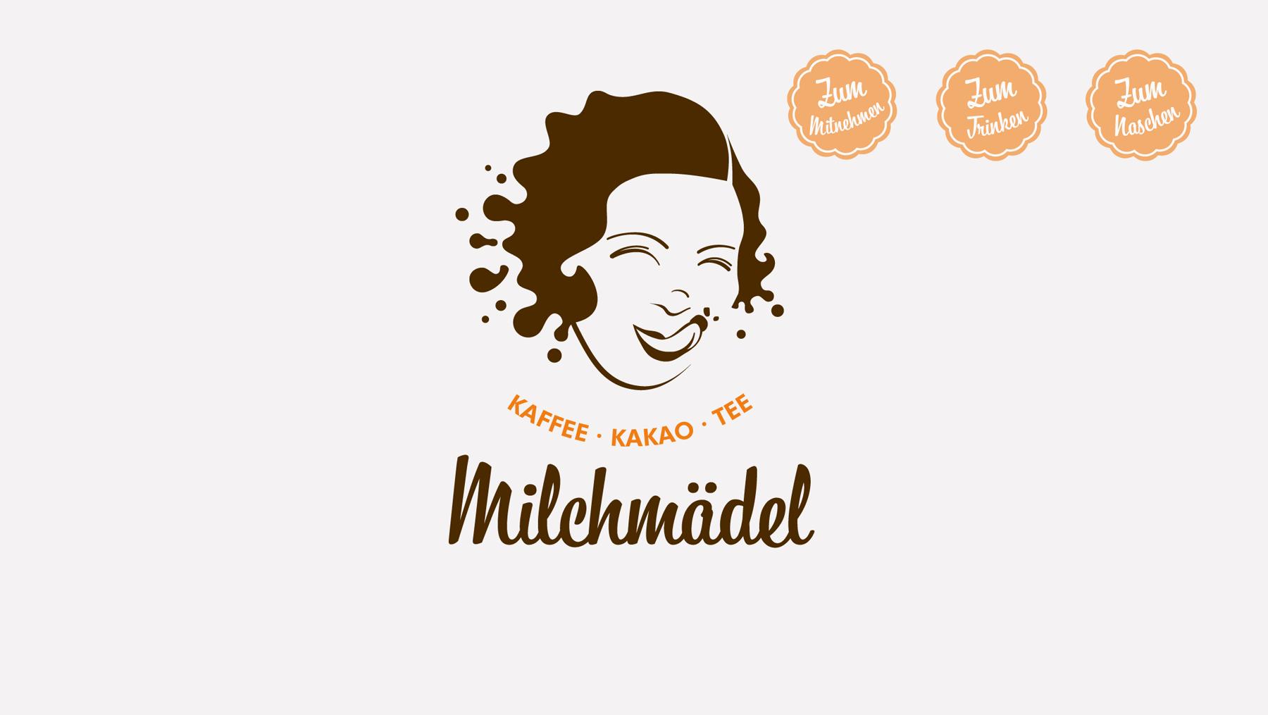Logo - Milchmädel mitnehmen trinken naschen