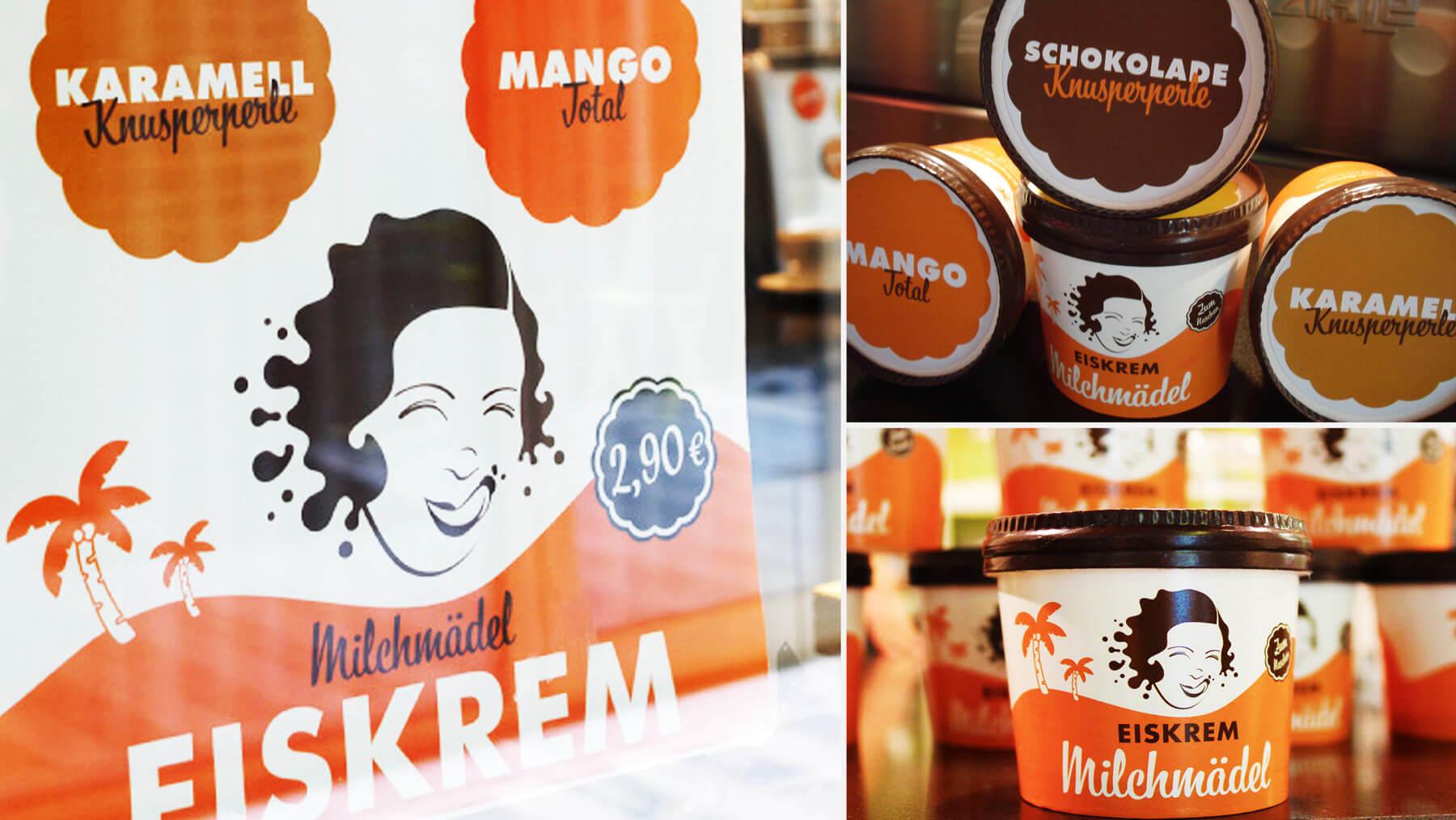 Milchmädel - Becher Eis Sorten Foto Copyright Ralf Kleimann