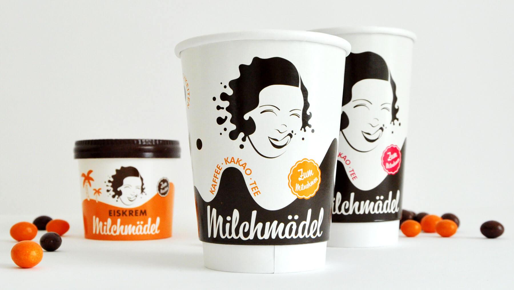 Milchmädel - Becher Kaffee Eis ToGo