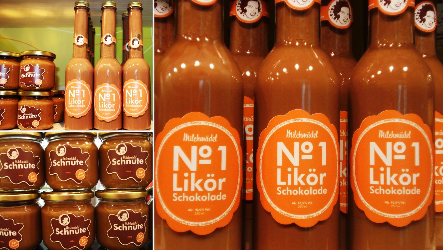 Milchmädel - Schokocreme Likör Verpackung Foto Copyright Ralf Kleimann