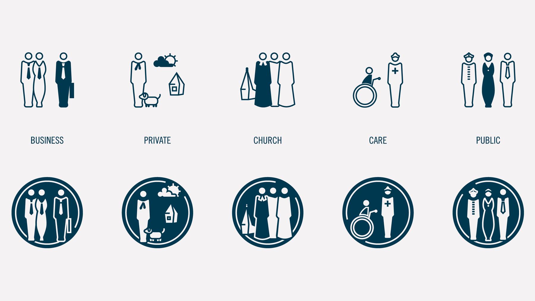Piktogramme - Job People