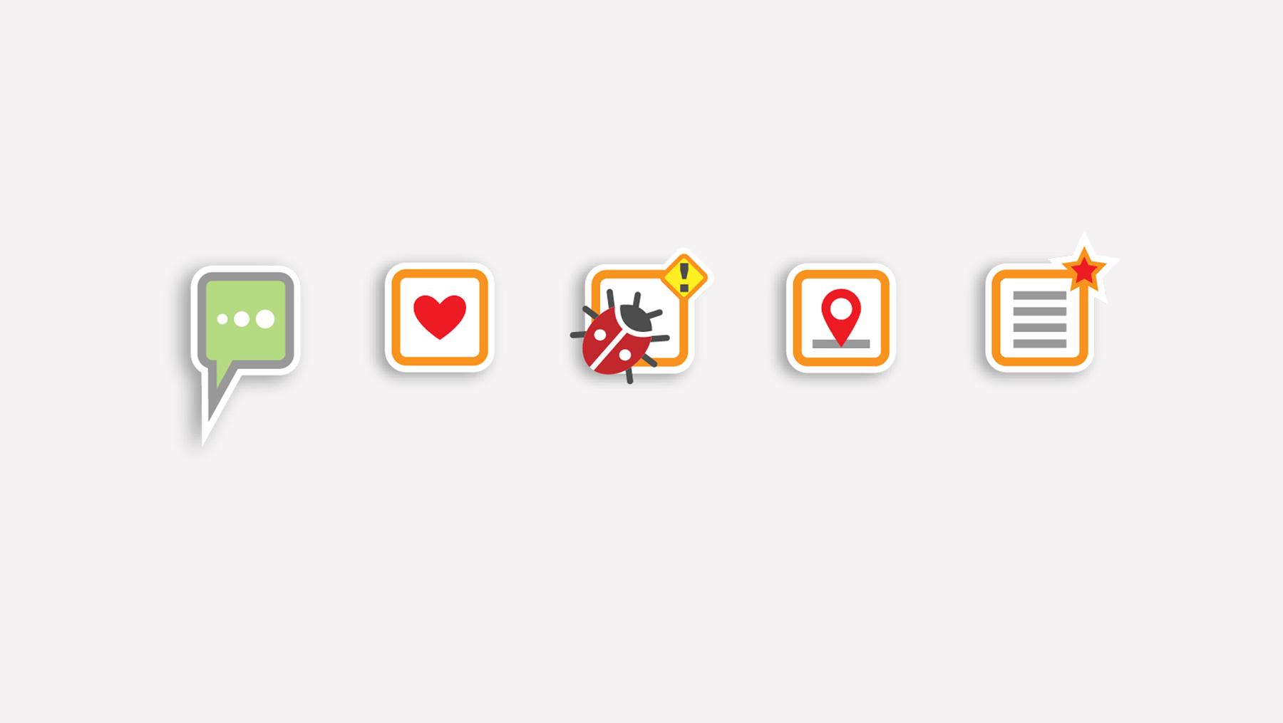 Piktogramme - Spielplatz App Schaltflächen