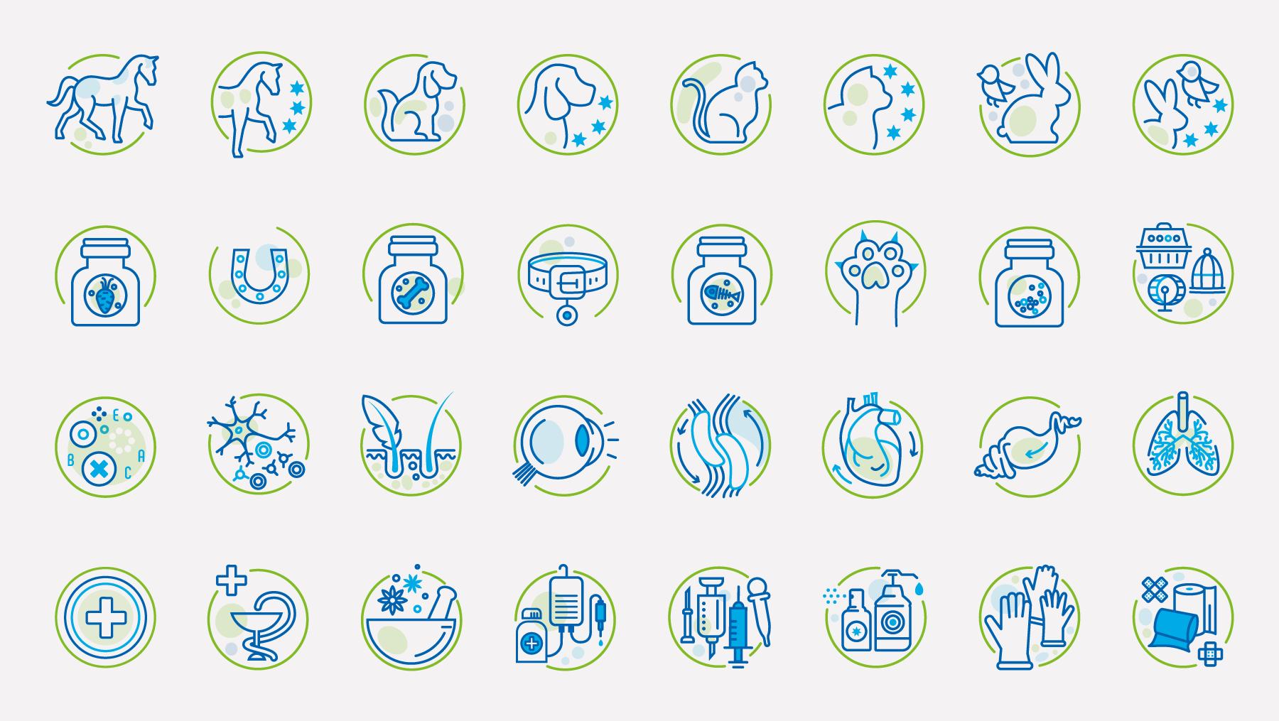 Piktogramme - Tier Medizin Veterinaer Icon