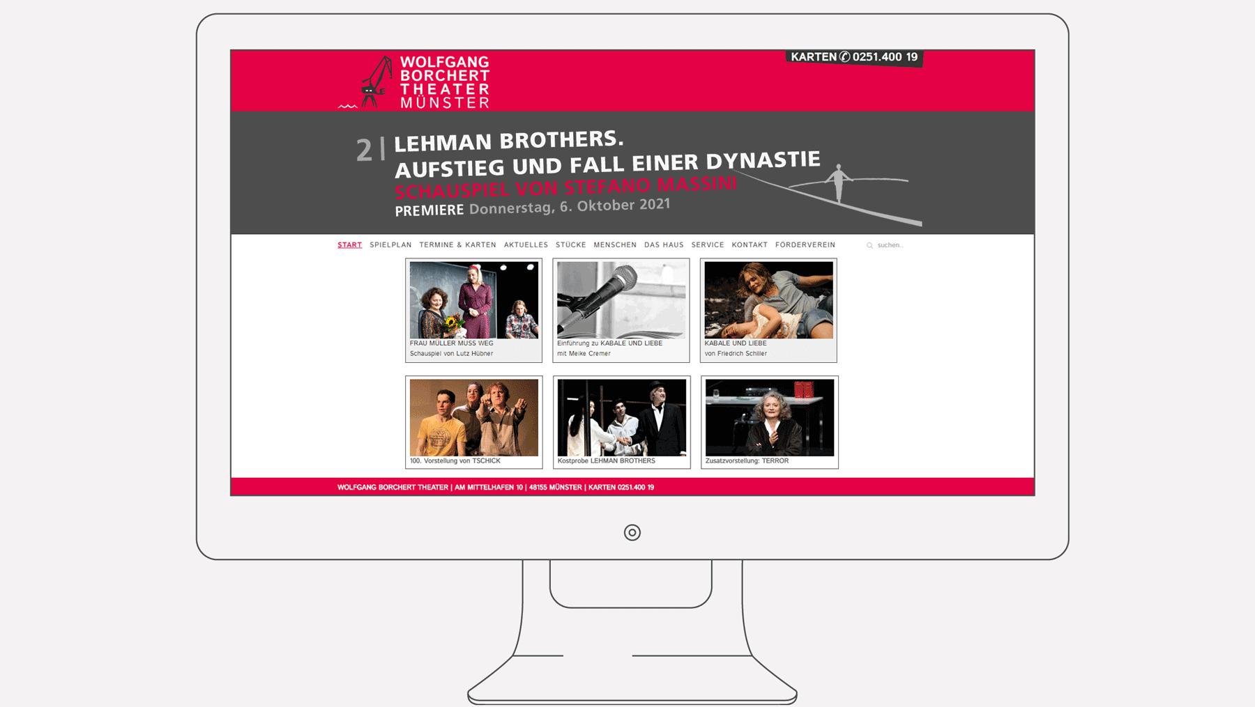WBT - Internet Startseite mit Animation